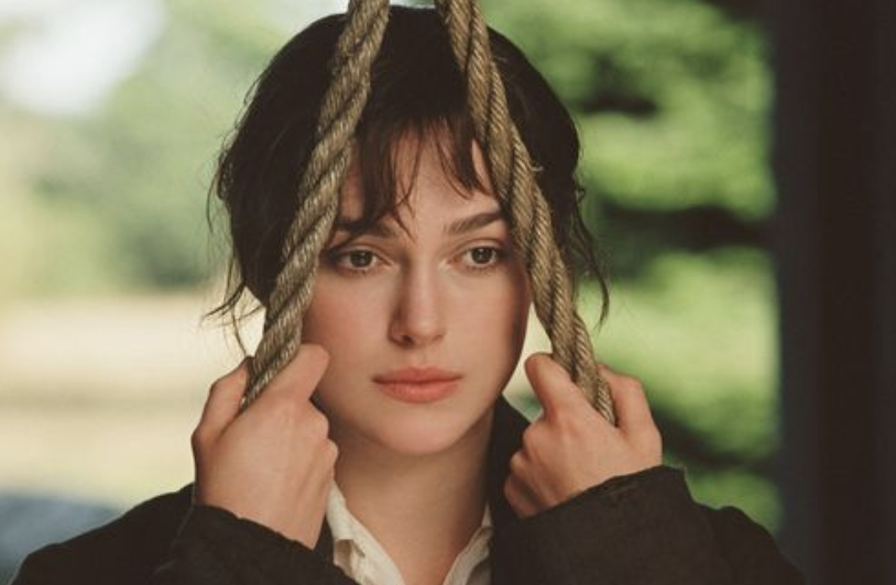 Keira Knightley in Pride and Prejudice on a swing