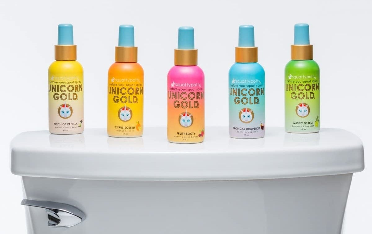 five of the Unicorn Gold poop spays