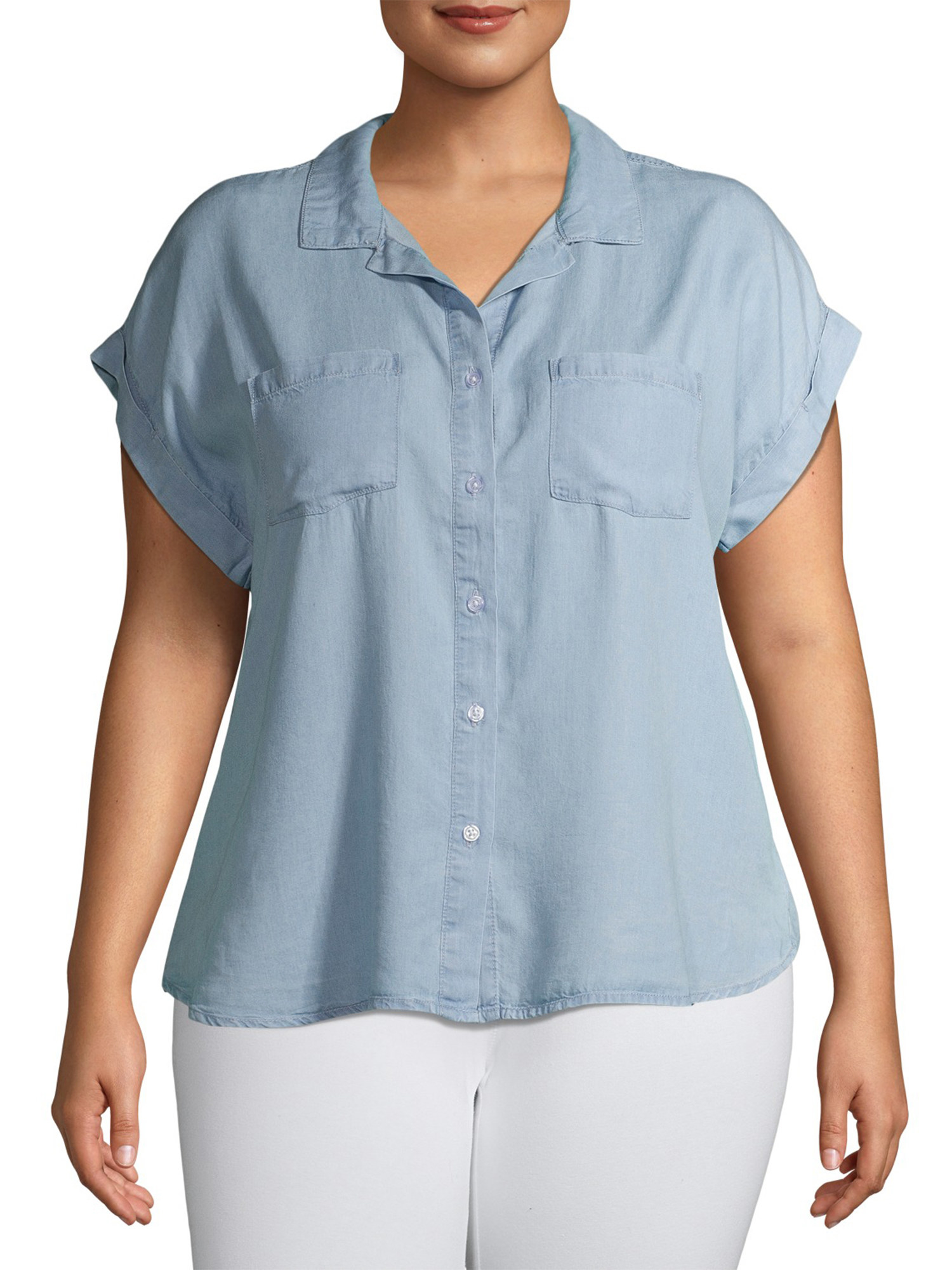 The chambray short sleeve button down