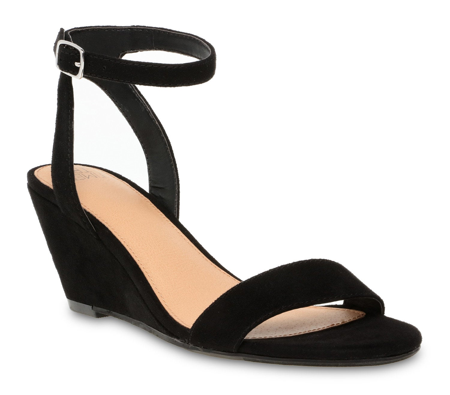 the black strappy wedges