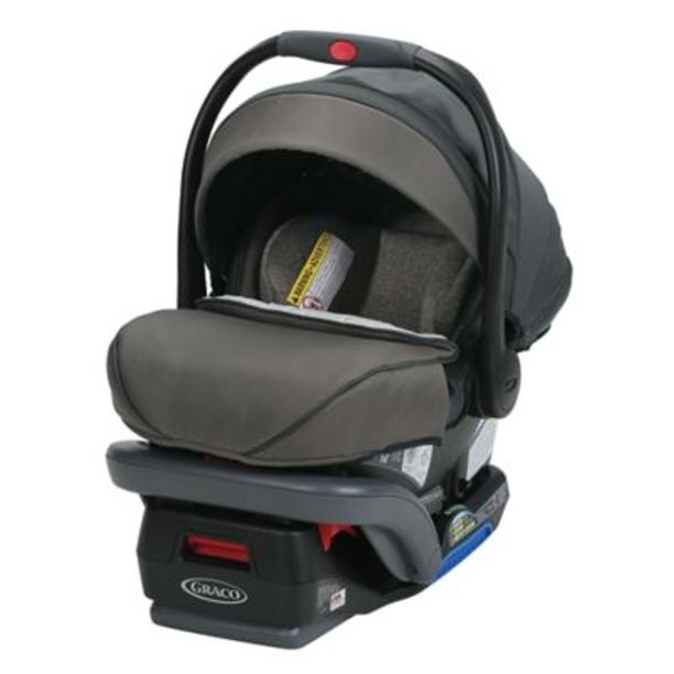 the gray car seat