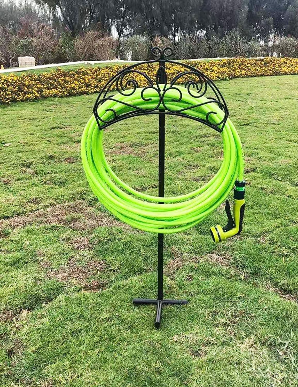 a pretty, standing hose holder
