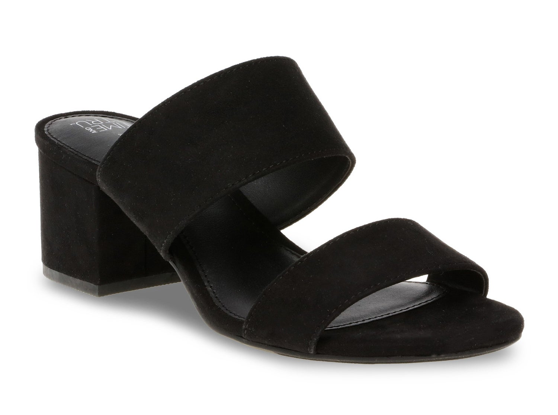 The black sandals