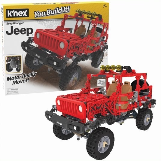 the red Jeep building set