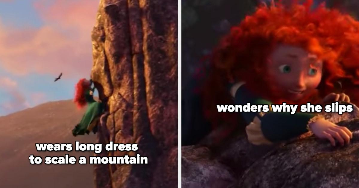 Merida climbing a mountain