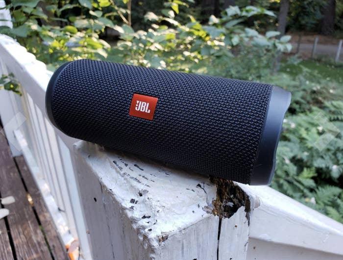 the tube-like speaker in black