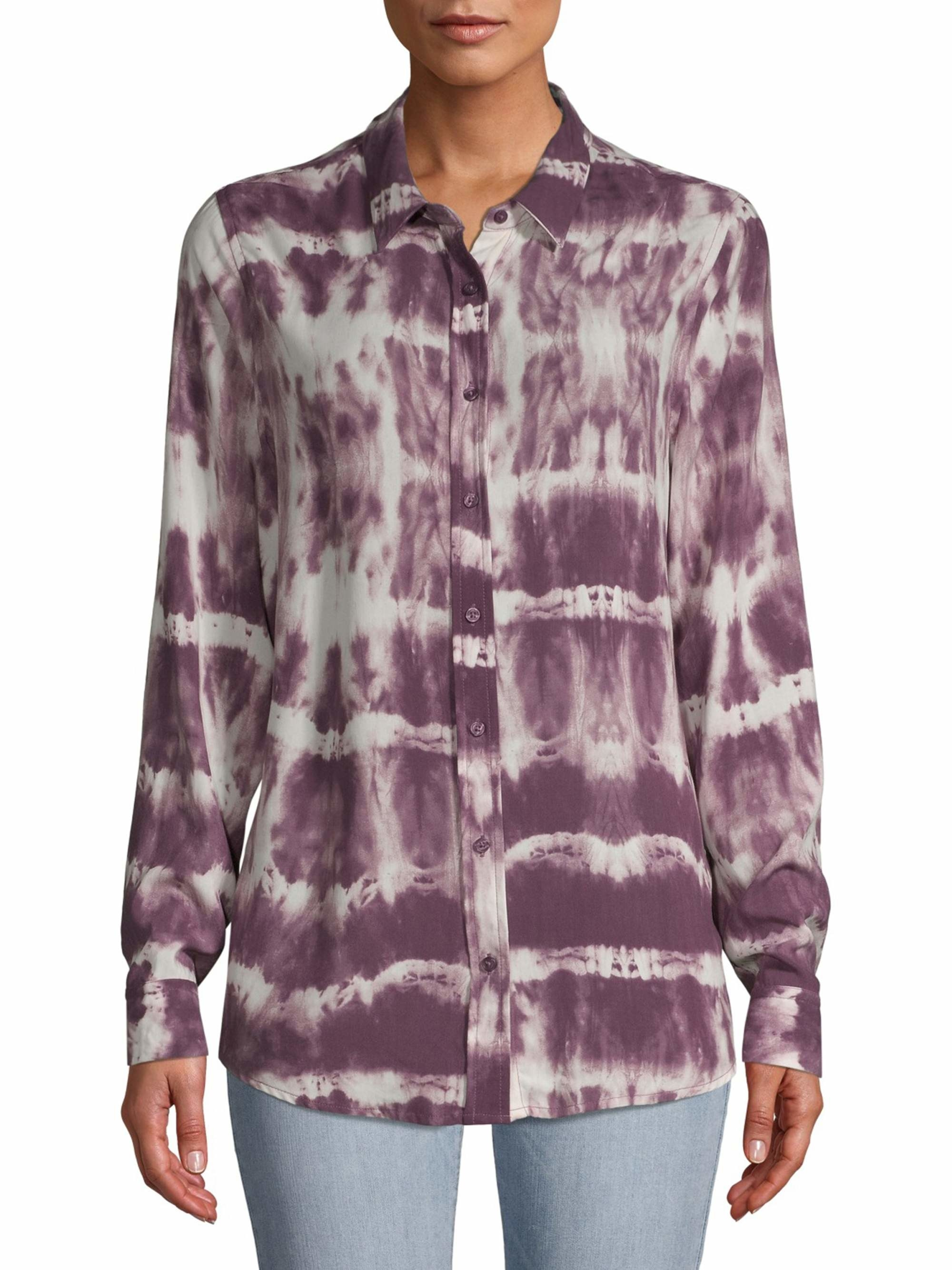 The purple tie dye blouse