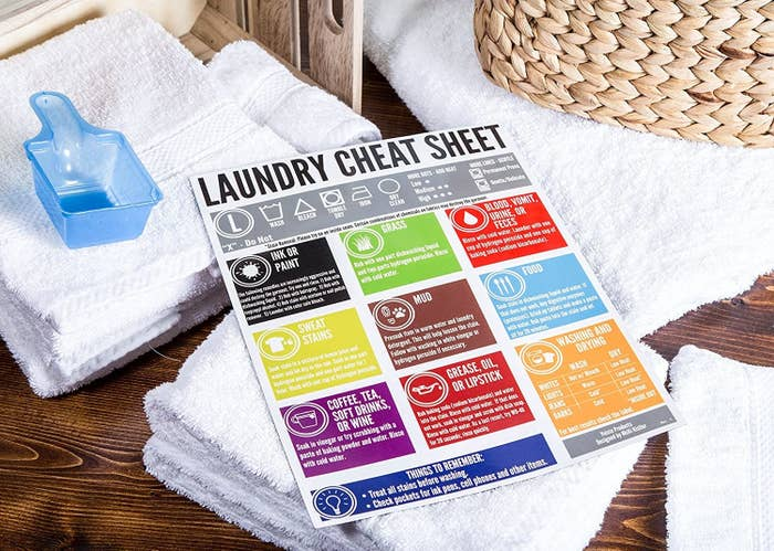 A huge magnet with laundry washing tips on it