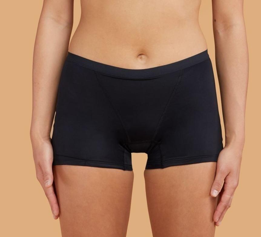 Model wearing the underwear