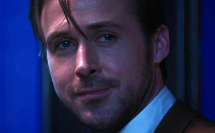 Ryan Gosling staring thoughtfully in La La Land