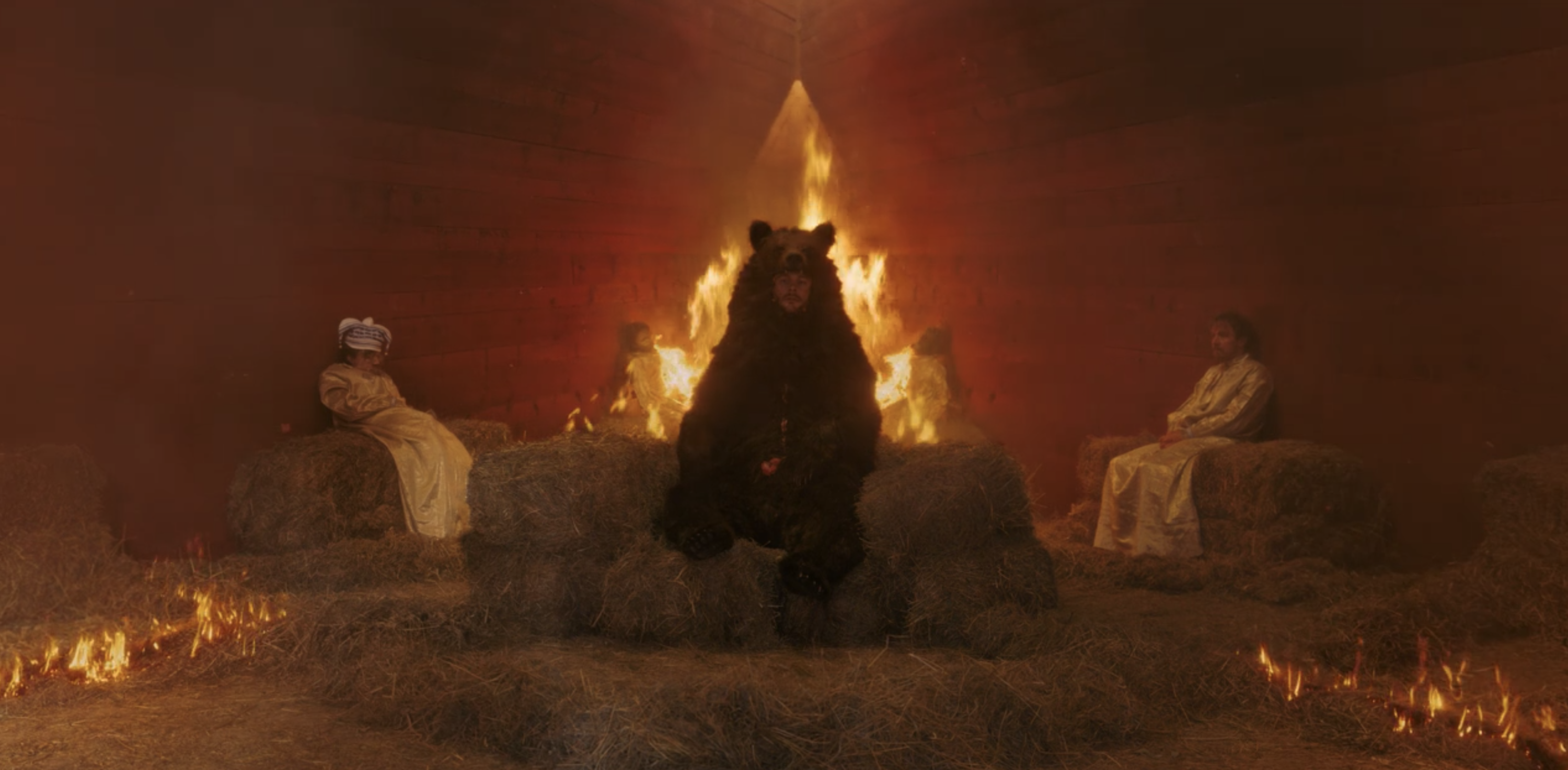 "Christian being burnt alongside two villagers in ""Midsommar"""