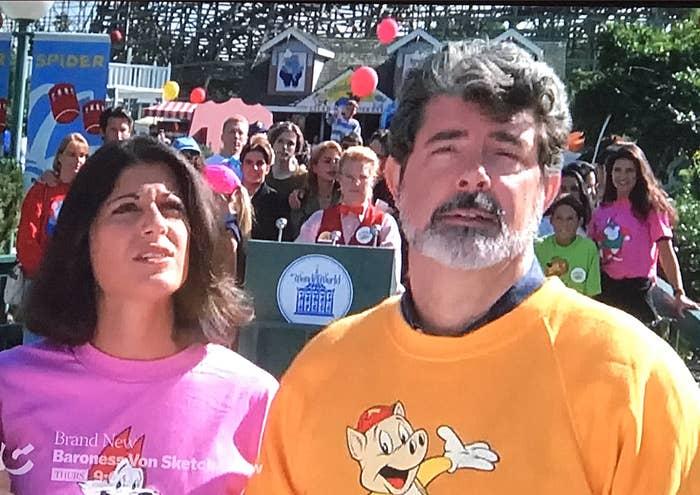 George Lucas at an amusement park