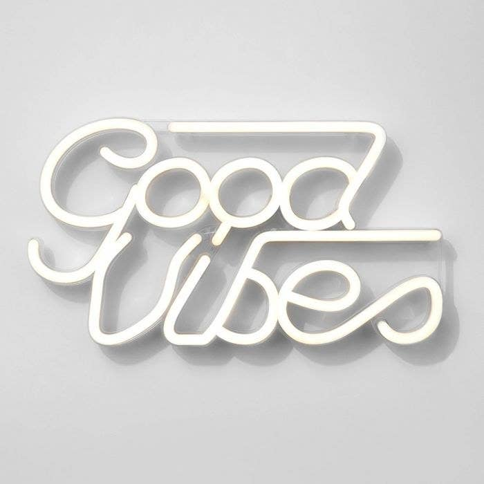 The Good Vibes LED Neon wall sign