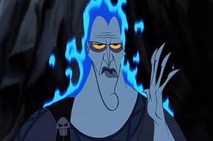 Hades from Disney's Hercules looking annoyed