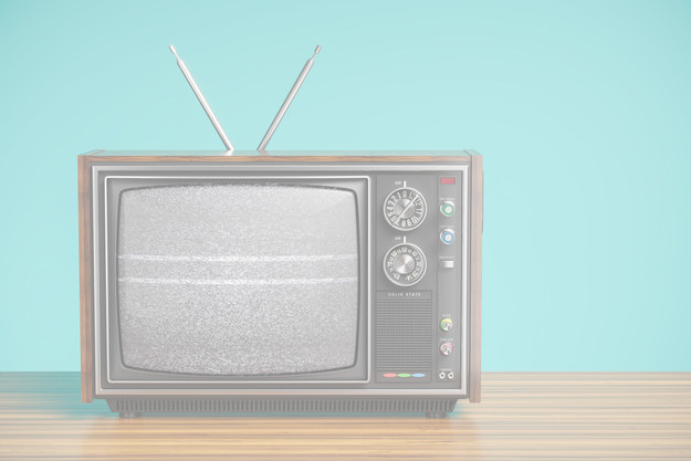 Text reads: now type television