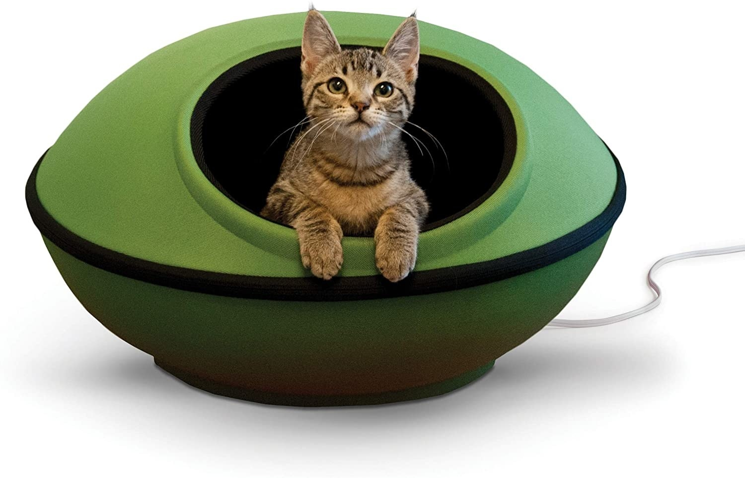 a green heated bed