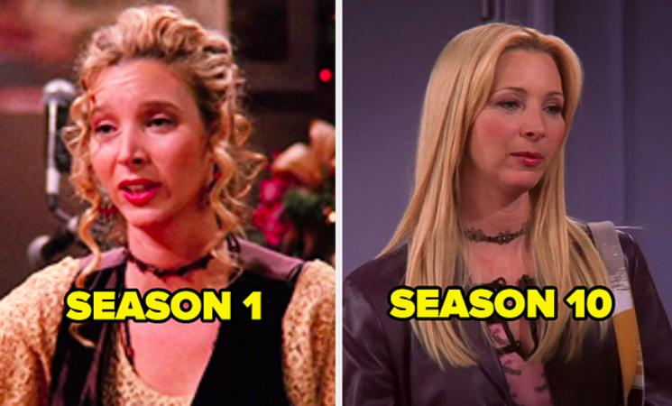 Phoebe in Season 1 next to Phoebe in Season 10