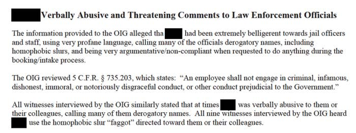 Excerpt of a document with redacted information