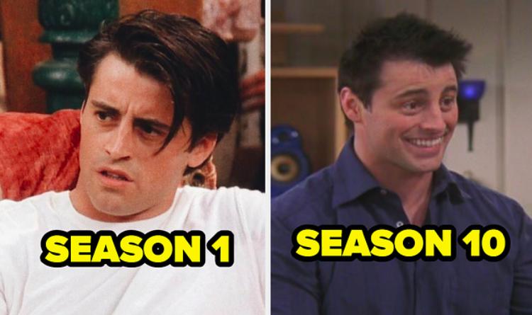 Joey in Season 1 next to Joey in Season 10