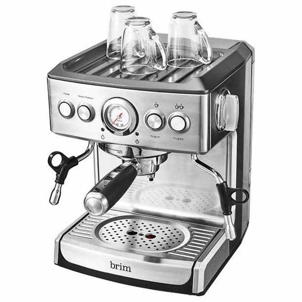 The stainless steel espresso machine