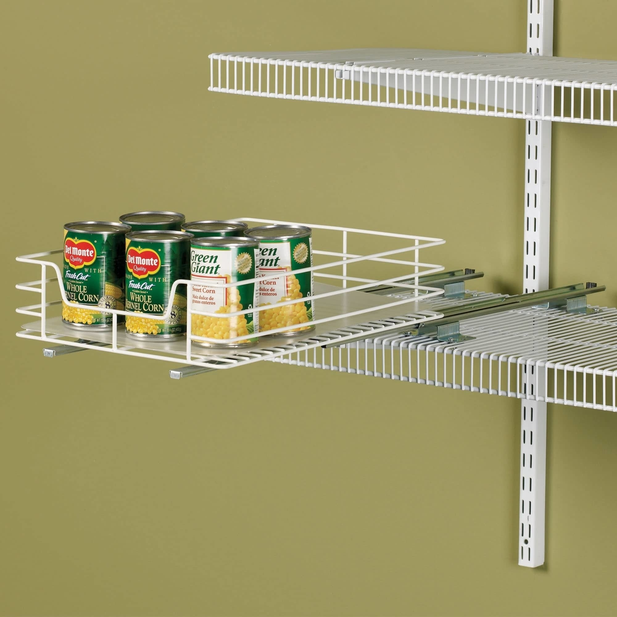 The metal wire can organizer