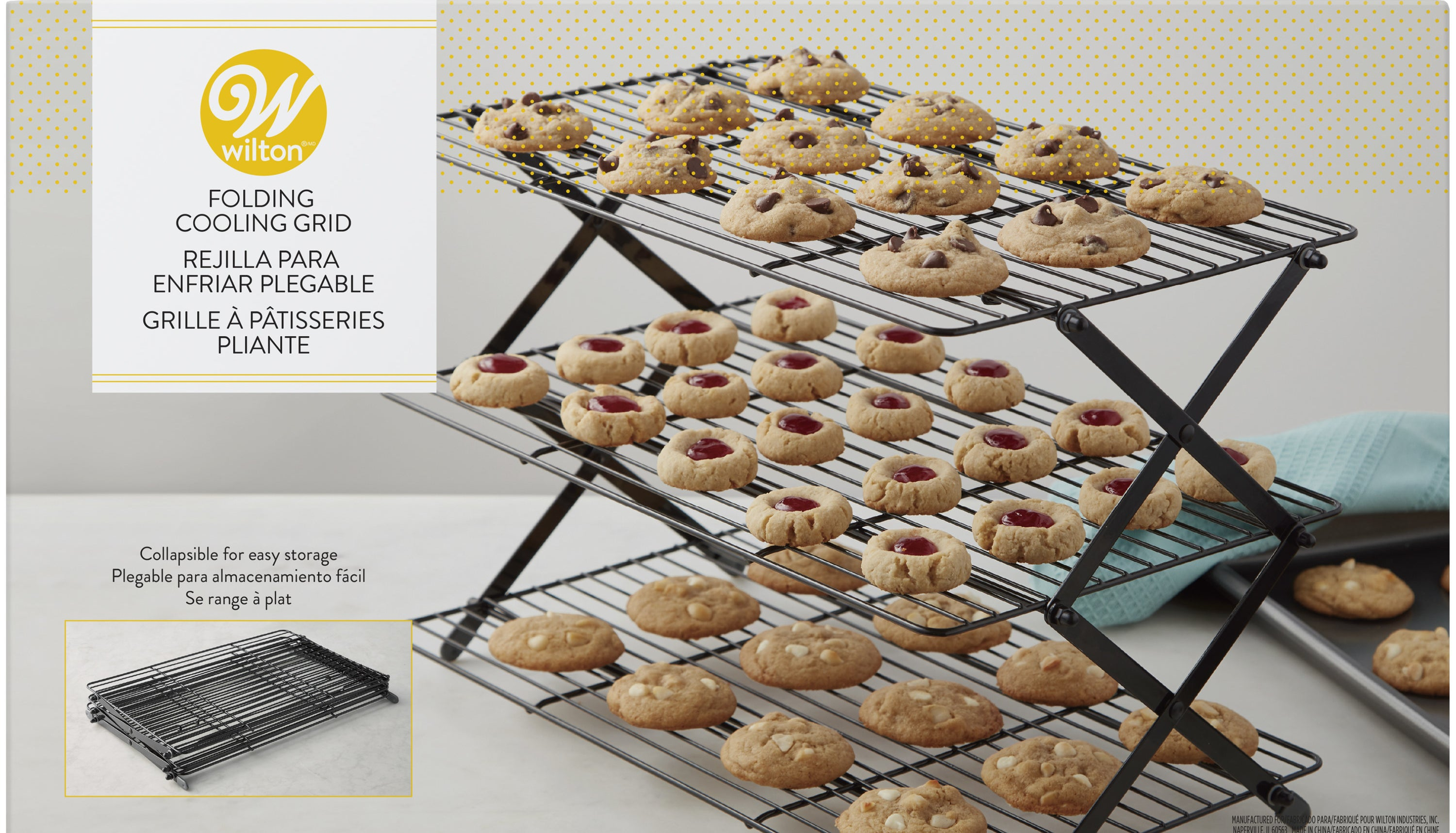 The three-tier metal cooling rack