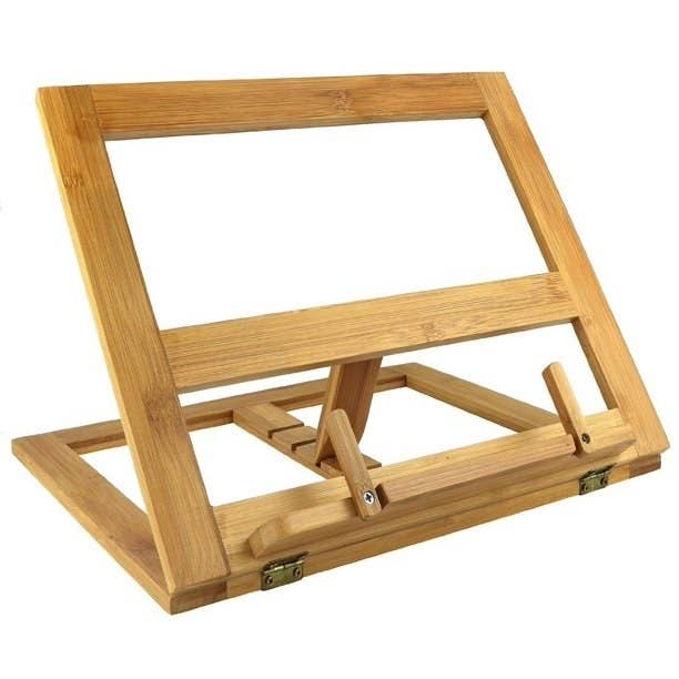 The wooden stand
