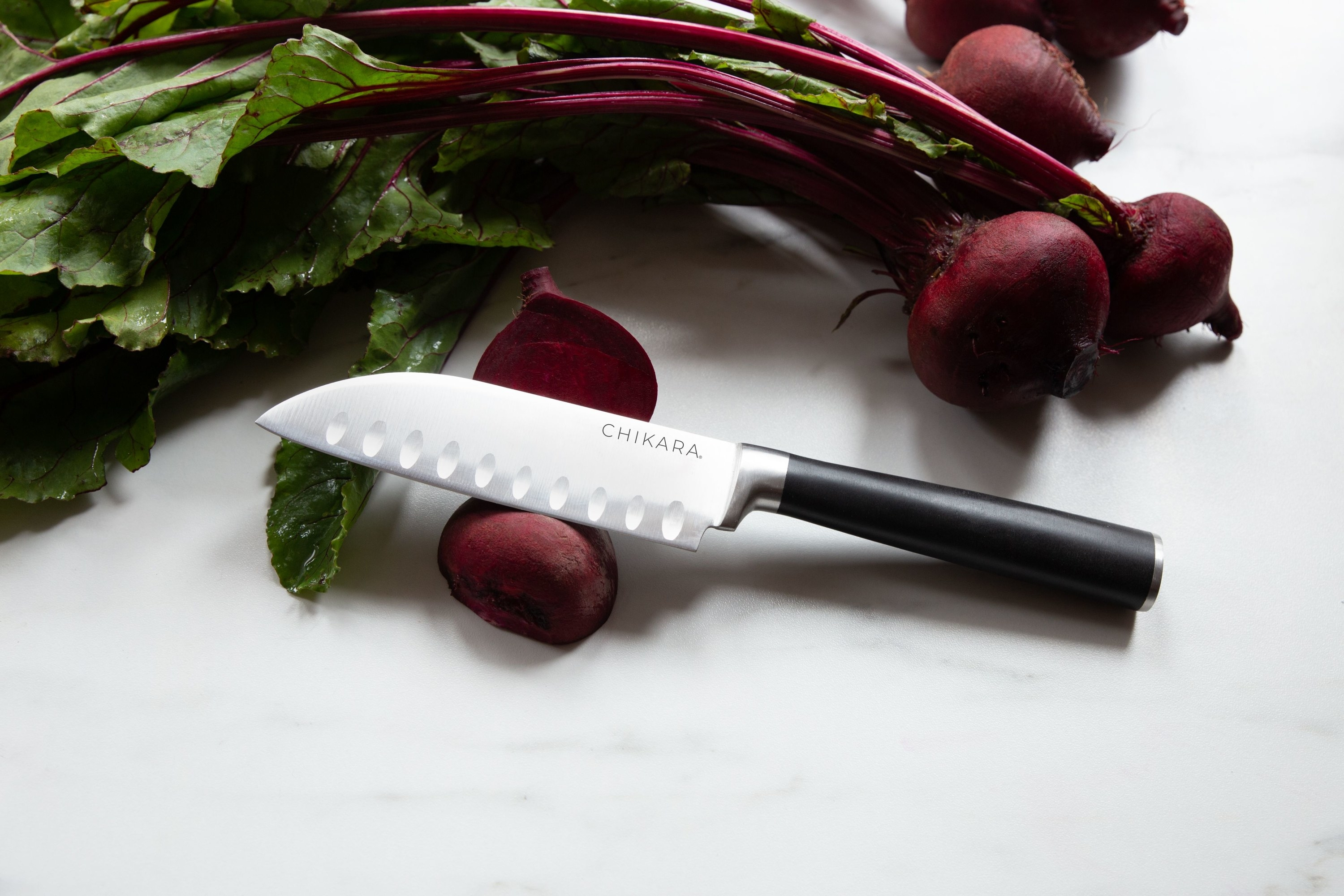 The serrated chef's knife