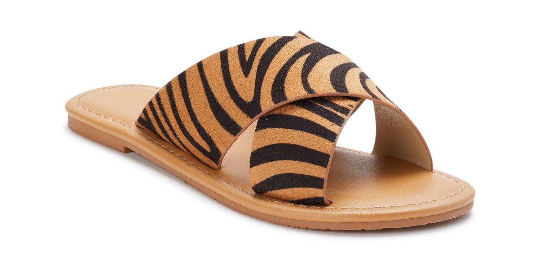 tiger print sandals