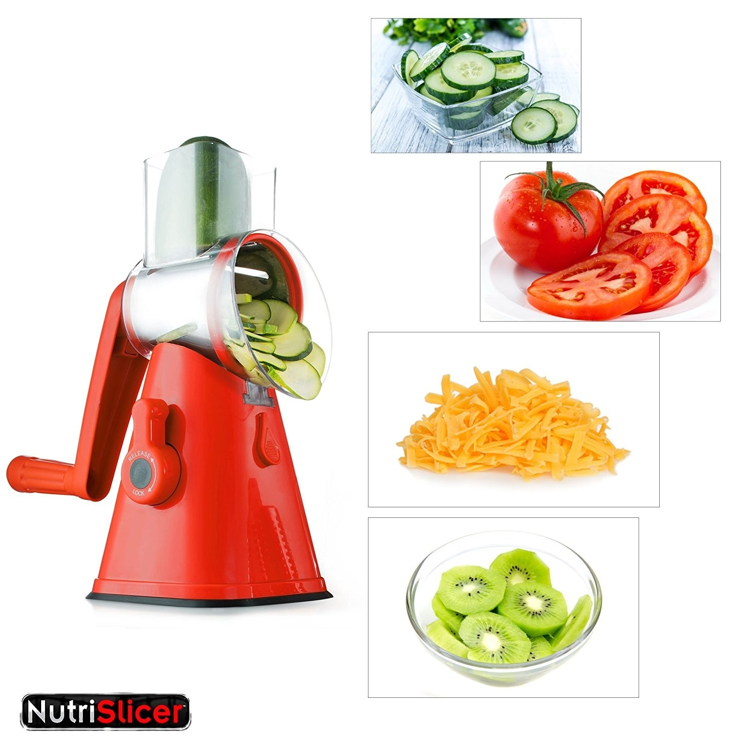 The madolin slicer with handle for slicing