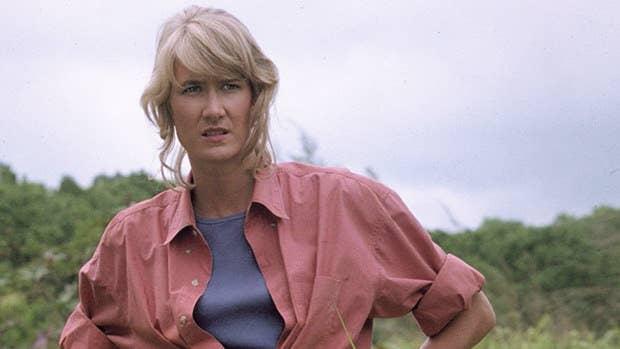 Close up of Laura Dern in Jurassic Park