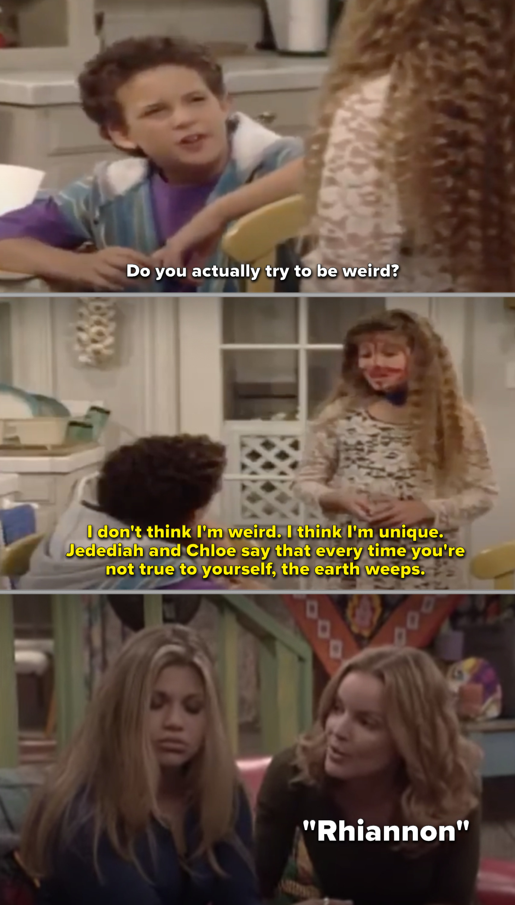 Topanga calling her parents by different names throughout the series