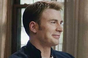 Chris Evans as Steve Rogers Smiling Thumbnail