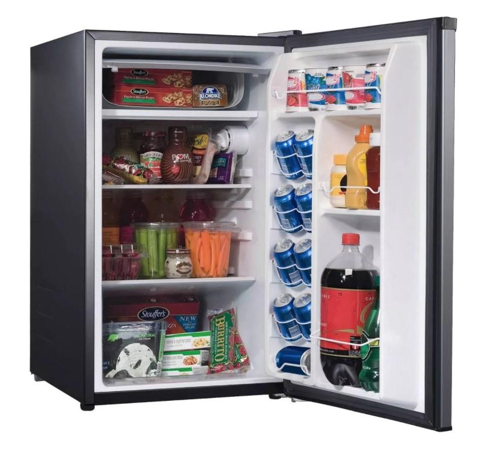 The mini fridge