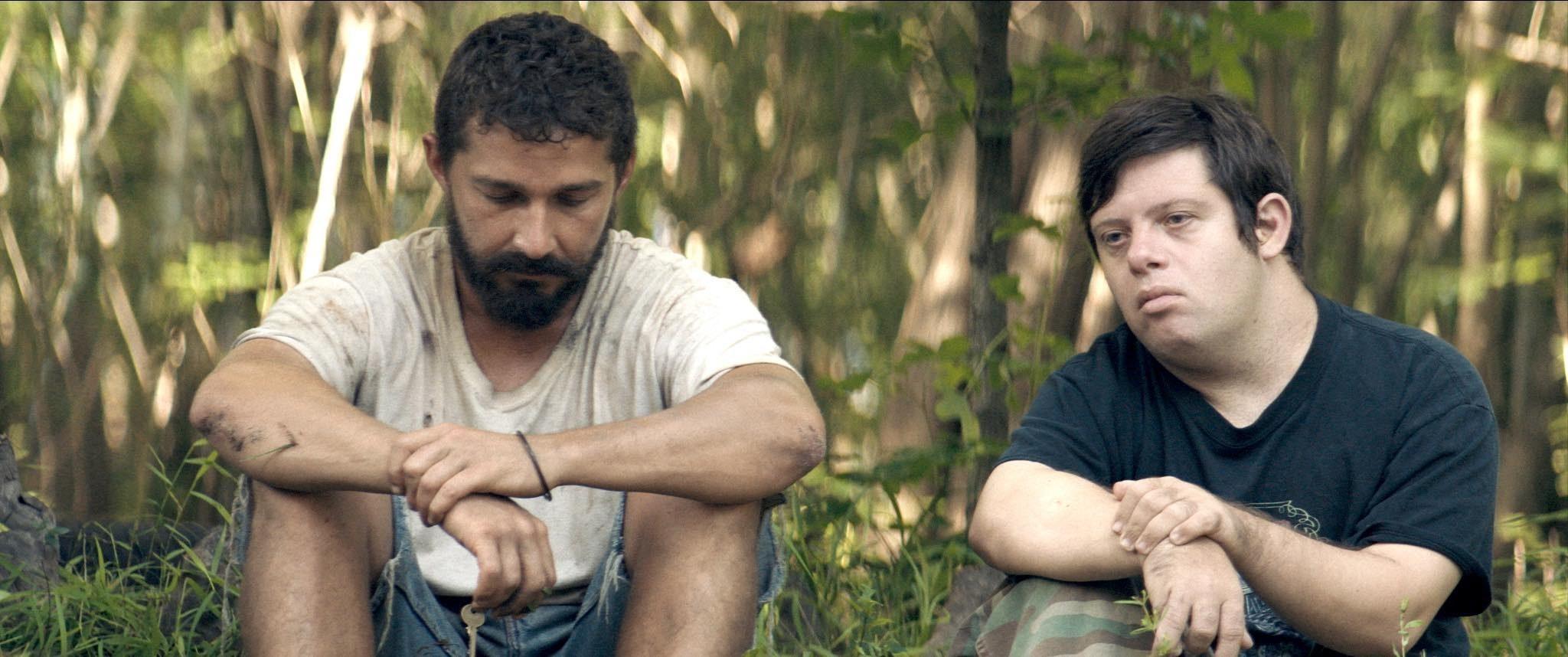 Shia LaBoeuf and Zack Gottsagen in The Peanut Butter Falcon