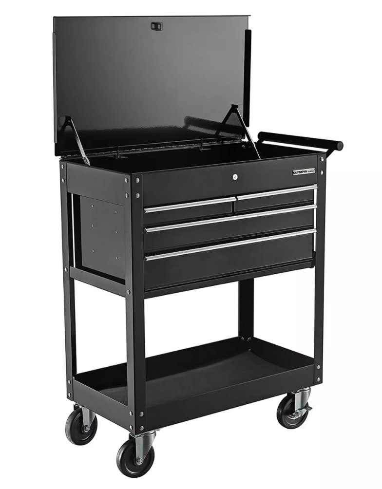 The large metal tool cart with wheels