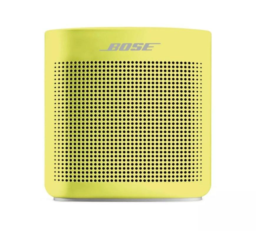 The yellow Bose speaker