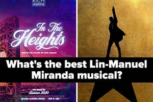 Posters of In The Heights and Hamilton