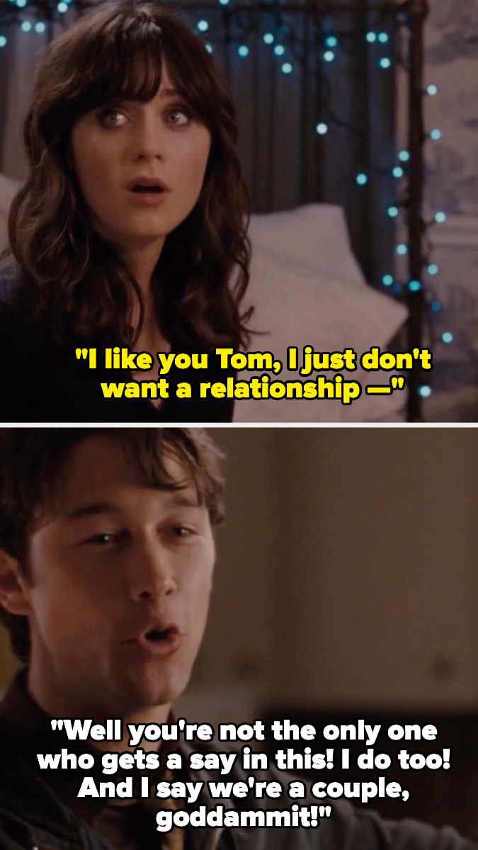 Summer telling Tom that she like's him but just doesn't want a relationship, and Tom completely flying off the handle.