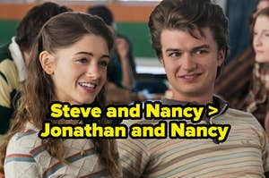 Nancy and Jonathan with the text that says Nancy and Steve are better than Jonathan and Steve