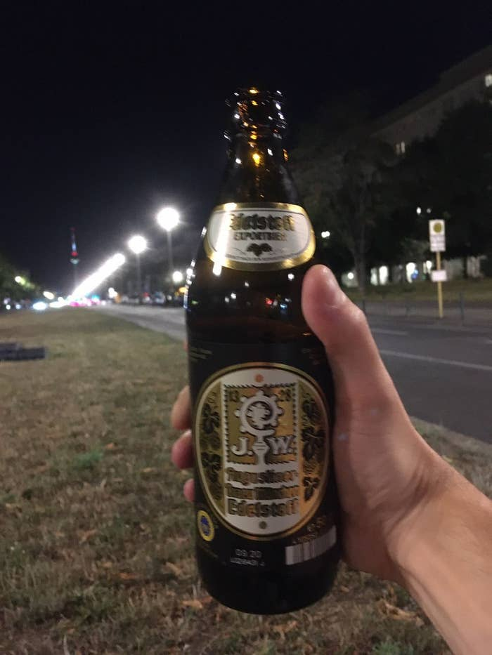 German beer bottle