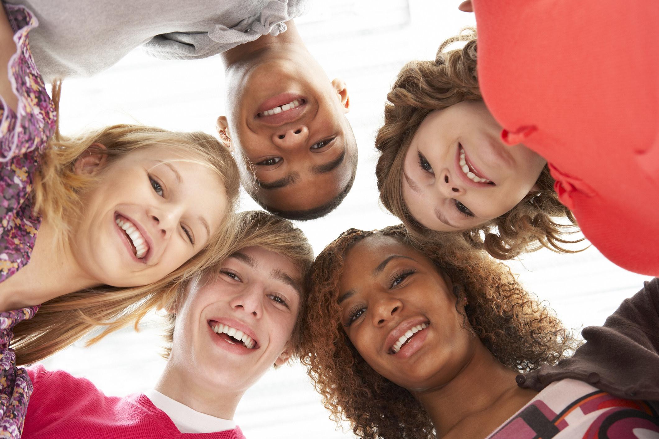 Super generic stock image of teenagers smiling