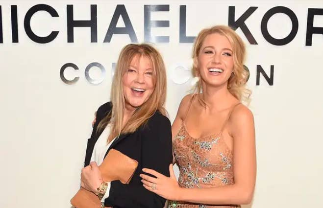 Blake Lively (right) and her mother, laughing