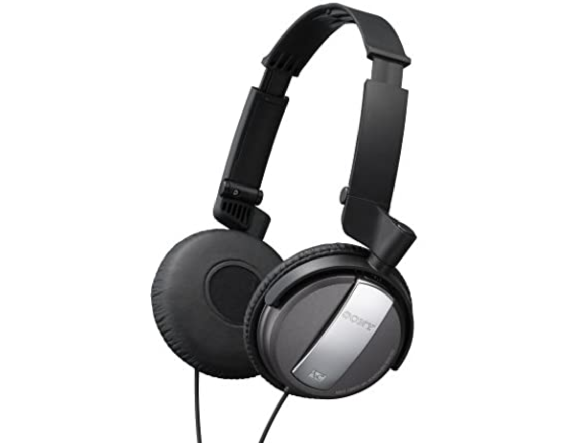 Black over the ear Sony headphones
