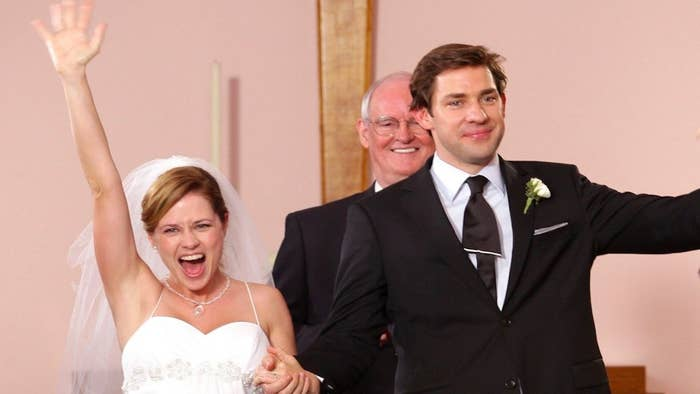 "Jim and Pam's wedding from ""The Office"""