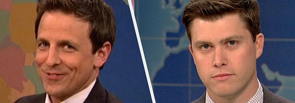 Seth Meyers and Colin Jost
