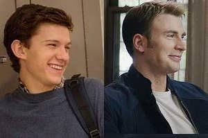 Peter Parker and Steve Rogers