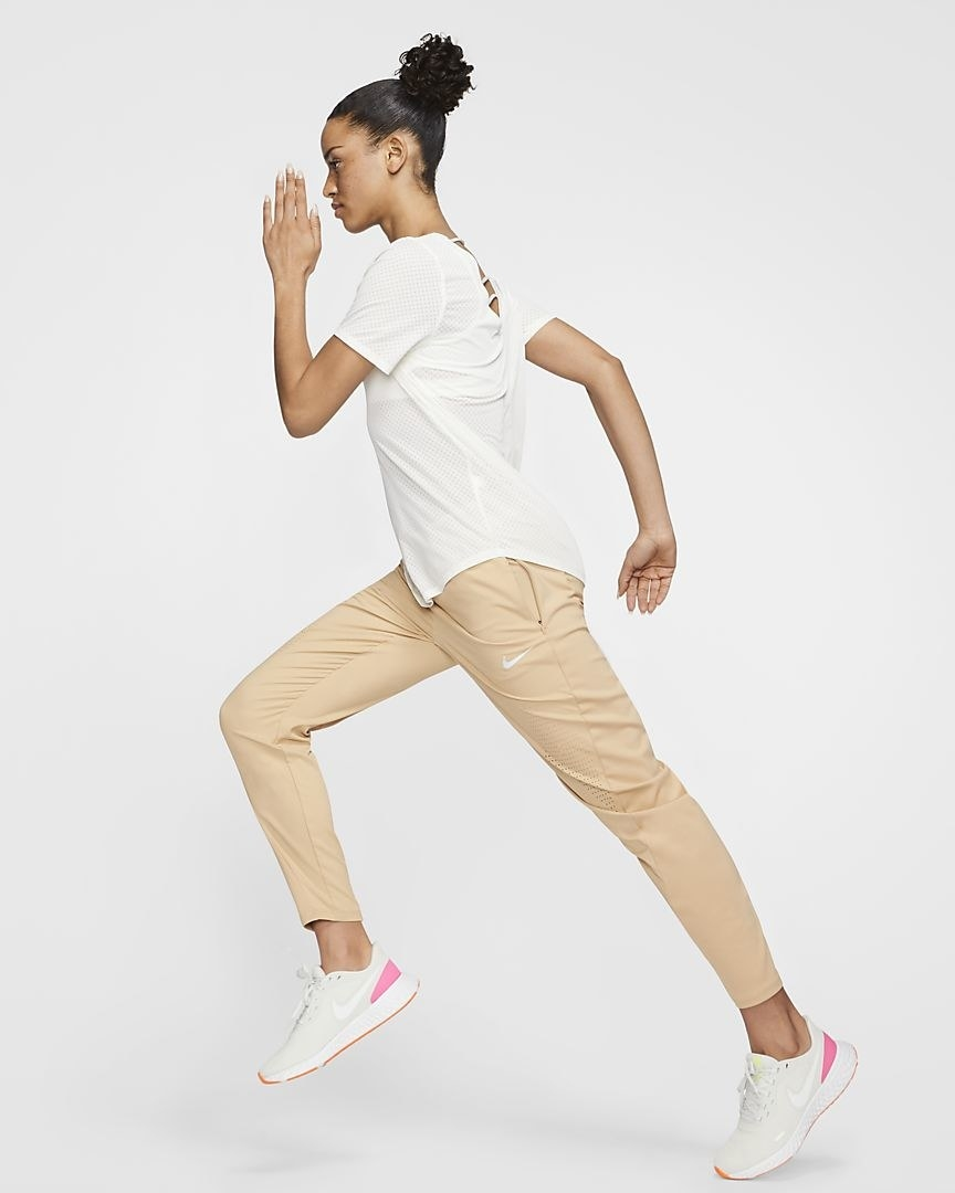 Model wearing the pants in