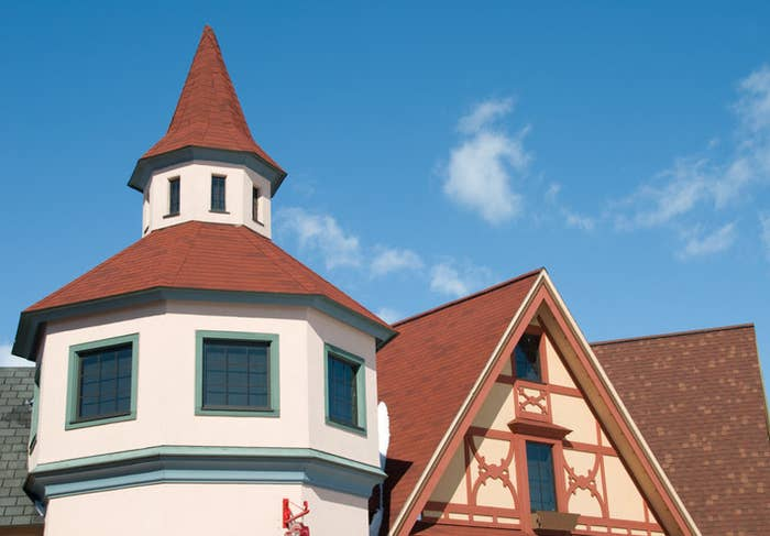 Bavarian-style rooftop in Frankenmuth