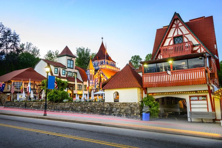 Bavarian-style town center in Helen